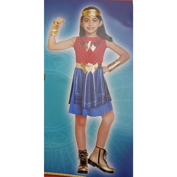 Other - NEW Wonder Woman Halloween Costume S 4-6 L 10-12